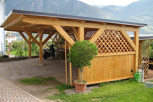 carport 2 voitures tis cp4 roumanie bois. Black Bedroom Furniture Sets. Home Design Ideas